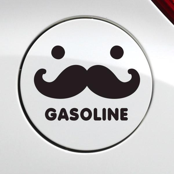 주유구 수염 가솔린 [자동차 스티커/주유구 스티커]