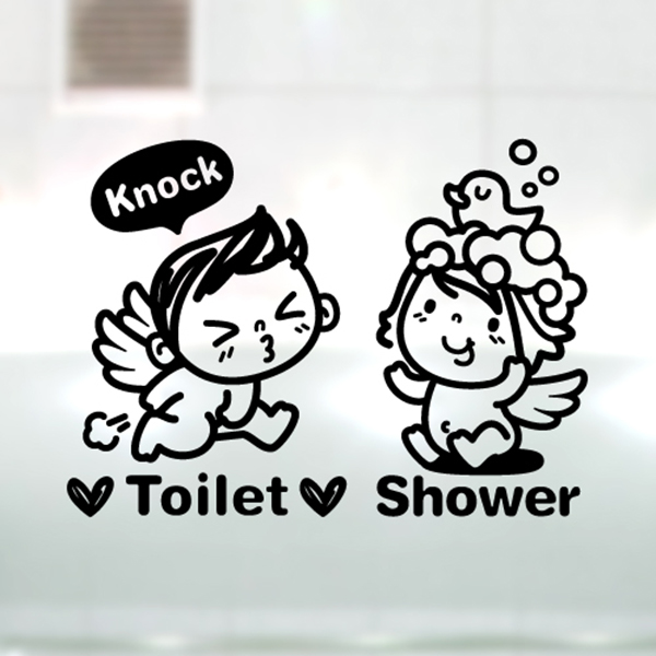 아기천사 Toilet & Shower [포인트 스티커/화장실 스티커/욕실 스티커]